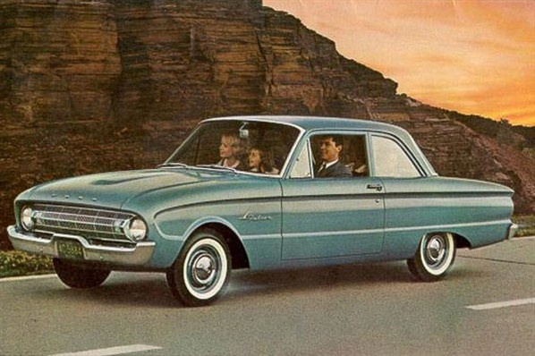 My first car but a different color of green 1960 Ford Falcon