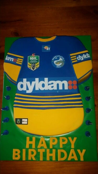 Parramatta Eels football jersey shirt