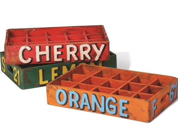 Soda crates set of 3 vintage sodas and farmers for Wooden soda crate ideas