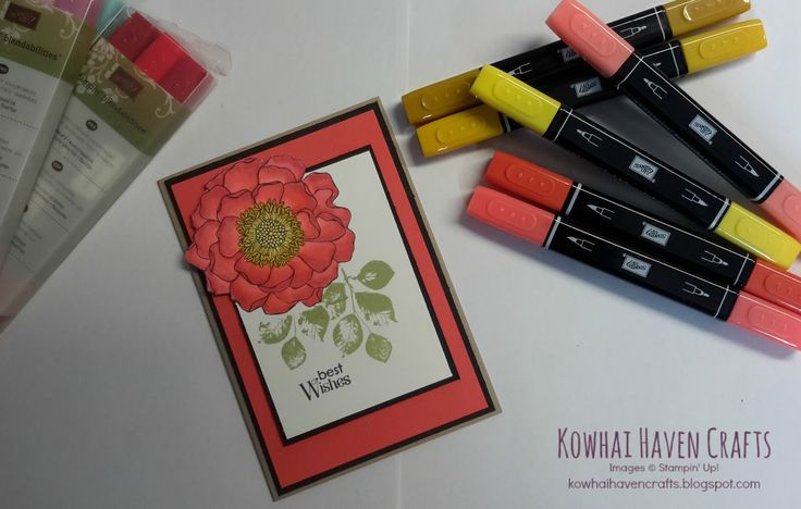 Stampin' Up! Best Wishes Card with Blendabilities