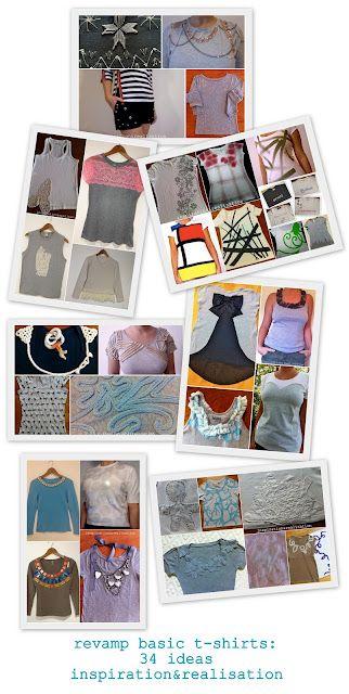 inspiration and realisation: DIY Fashion - DIY round-up: 34 revamp t-shirt tutorials