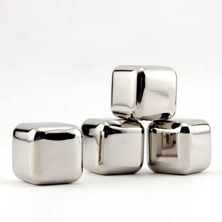 2015 новое качество 1 x 1 x 1 дюймов нержавеющей стали виски камни кубики льда мыльного камня чиллеры камень напиток ну вечеринку подароккупить в магазине Enjoy ShopingнаAliExpress