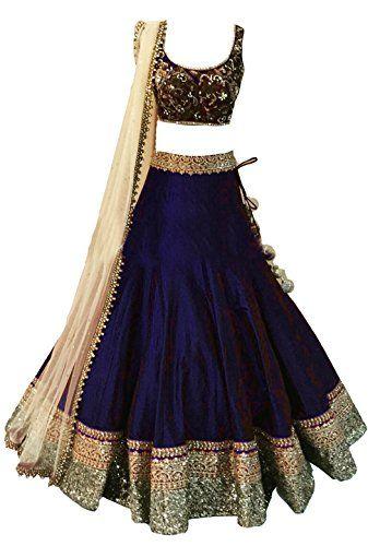 Clickedia Girl'S Georgette Long Cholis Half Saree (Designer Kids_Meera_Navy Blue_Navyblue)