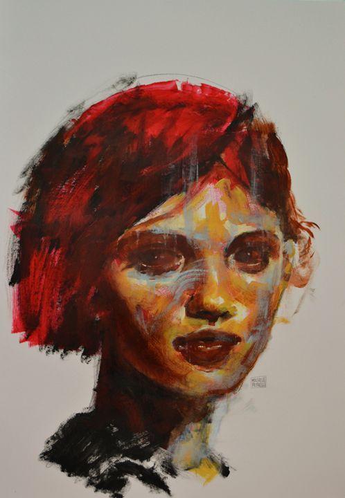 Red hai 4 - Michele Petrelli Painter