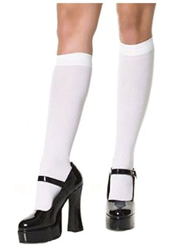 You never know when you'll need a pair of classic White Knee High Stockings. Purchase a pair and use them for all your costume or casual needs! Add a classic touch to your look today!