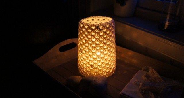 Heklet lyslampe