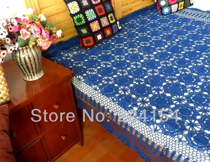 Aliexpress.com : Buy 160x250 CM 100% handmade cotton crochet blue bedspread for wedding decoration  ~ FREE SHIPPING from Reliable Bedspread suppliers on Handmade Shop $148.00