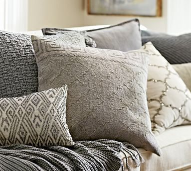 Rustic Luxe™ Pillow Covers - Gray #potterybarn
