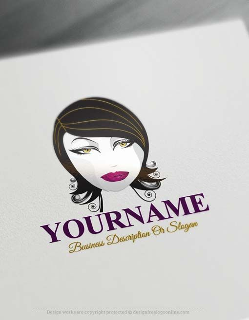 Free Logo Maker - Black Hair Face Logo design | Free logo
