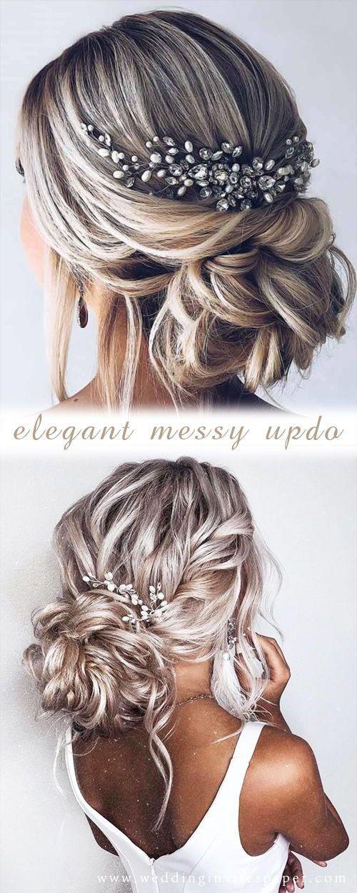 42 beautiful wedding hairstyles - elegant updo with beautiful ... - hairstyles
