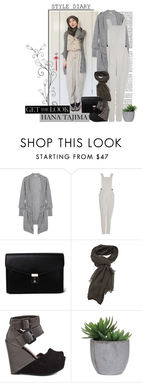 """Get The Look : Hana Tajima"" by weeyz ❤ liked on Polyvore featuring Iris & Ink, Topshop, Akira, Faliero Sarti, Bacio 61 and Lux-Art Silks"