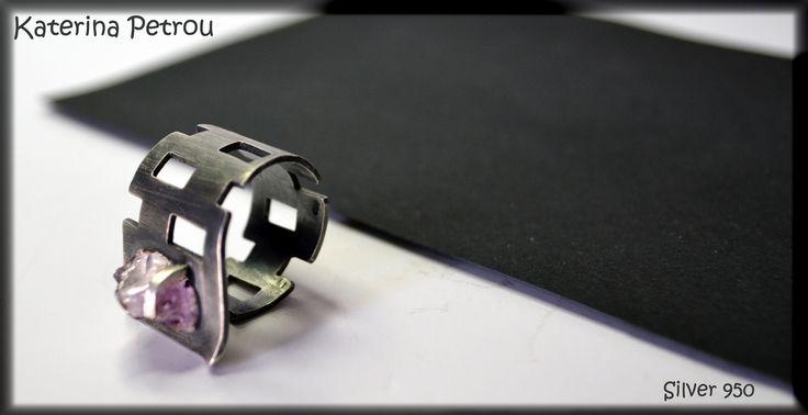 Handmade Ring- Silver 950 https://www.facebook.com/katpetrou.jewellery