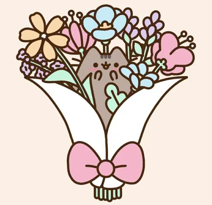 Pusheen flowers
