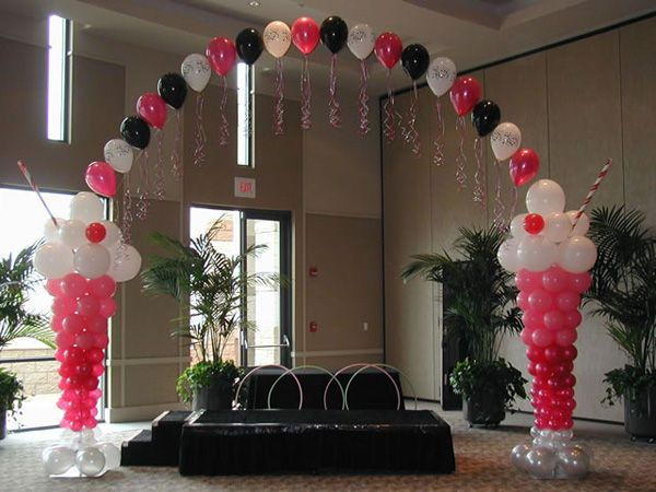 Our event hall can be greatly enhanced by the addition of balloons.