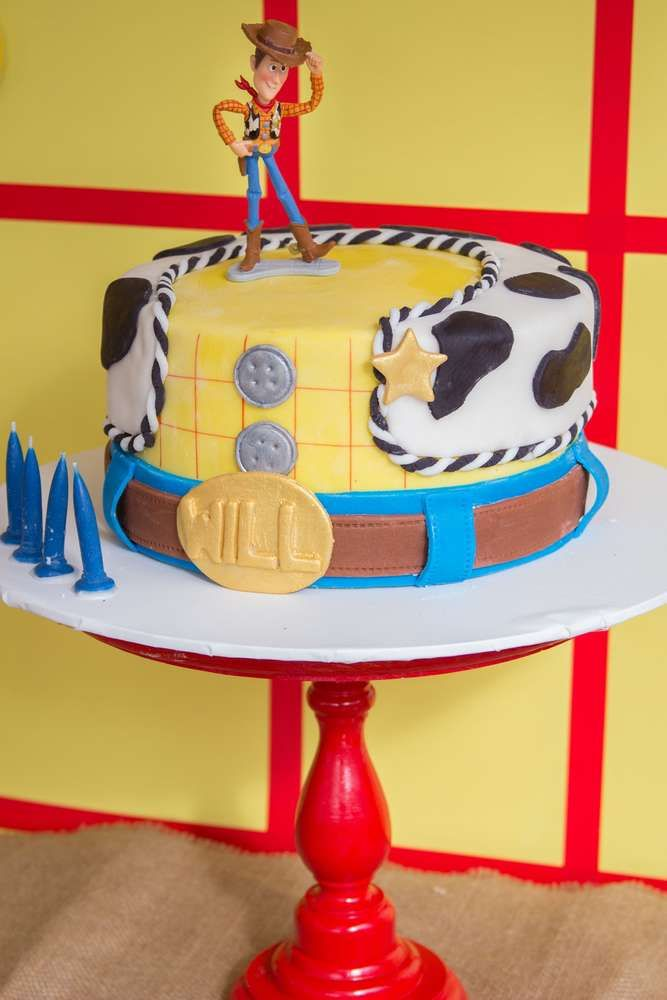 Awesome cake at a Toy Story birthday party! See more party ideas at CatchMyParty.com!