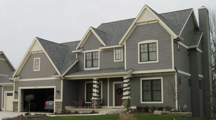 More stone hardieboard new home ideas pinterest board and batten board and batten for Cost to paint exterior wood siding