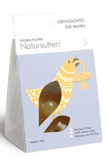 Natursutten 'Small' Natural Rubber Orthodontic Pacifier
