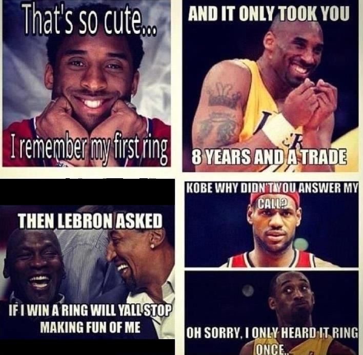 LeBron James, Kobe Bryant and Michael Jordan