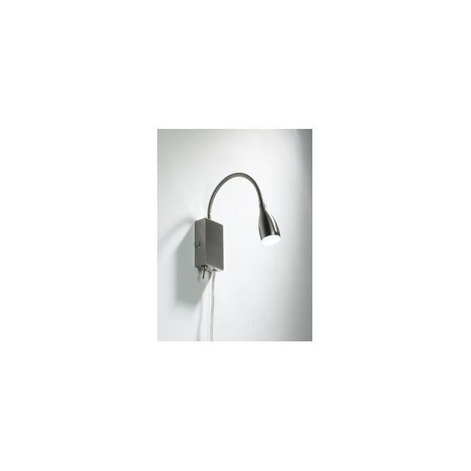 UNO0746 Uno 1 light modern wall light satin chrome finish (switched)