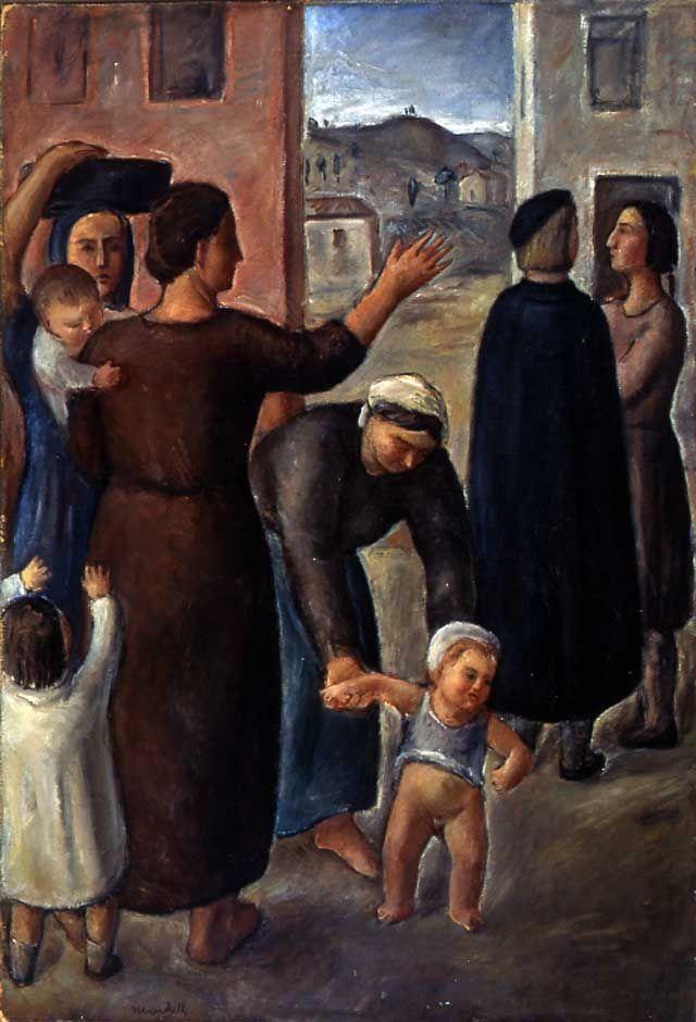 Le madri, Pompilio Mandelli, 1935, Olio su tela,Musei Civici di Reggio Emilia