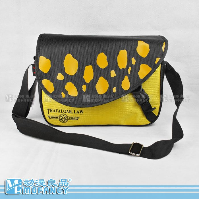 Anime One Piece LAW Logo Design Yellow New Messenger Bag //Price: $32.00 & FREE Shipping //     #onepiecelover #onepieceatatime #dluffystore
