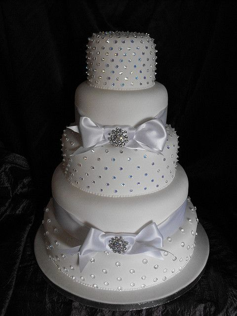Dazzling 5-Tier Wedding Cake By KC Wedding Cakes - (kcweddingcakes)
