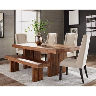 Shop for Hanover Brown Sheesham Wood 6-piece Dining Set. Get free delivery at Overstock.com - Your Online Furniture Shop! Get 5% in rewards with Club O! - 25450640