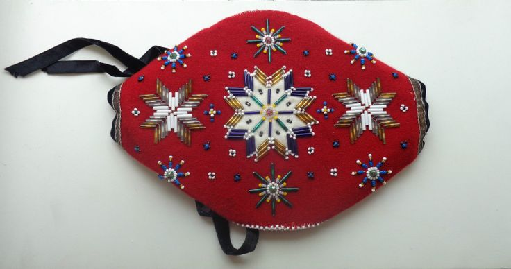 Beaded cap for Hardanger costume.