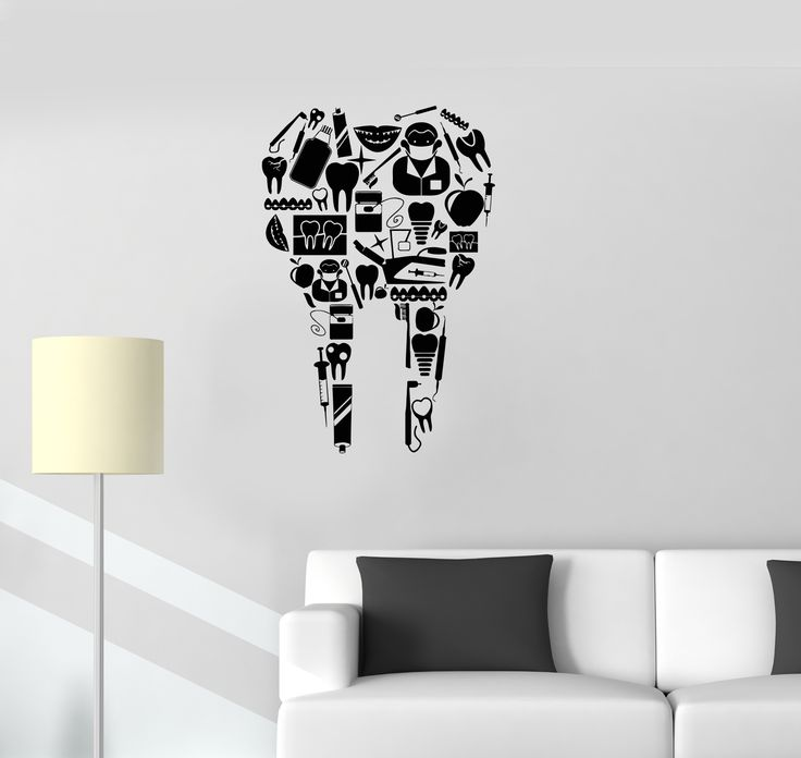 Vinyl Decal Tooth Dentist Tools Dentistry Dental Clinic Wall Stickers Mural (ig2705)