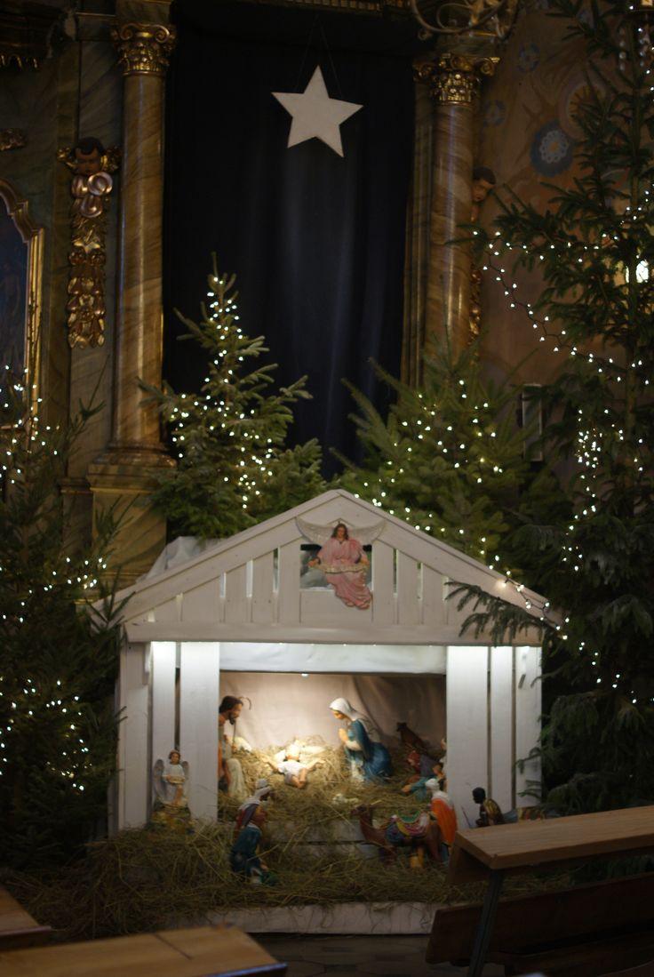 szopka bożonarodzeniowa,dekoracje kościoła,Krzczonów