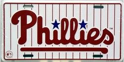 Philadelphia Phillies MLB Embossed Vanity Metal Novelty License Plate Tag Sig