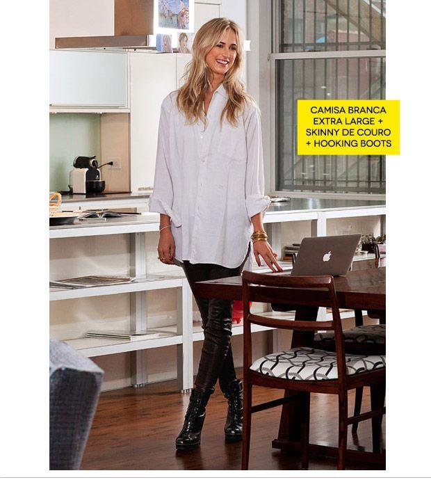 legging + camisa branca larga: Vogue Fashion, Over Buttons, Liquid Legs, Fashion Gazett, Maternity Style, Jay Style, Style Gutman, Personalized Style, Fashion Finding