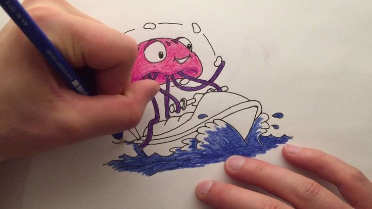 Watch me draw a Jolly Jellyfish Juggling Jelly beans on a Jetski, words that start with the letter J.