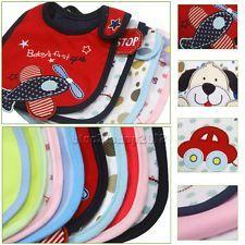 Cotton Baby Infants kids bibs/ baby lunch bibs/ cute towel Layer Waterproof