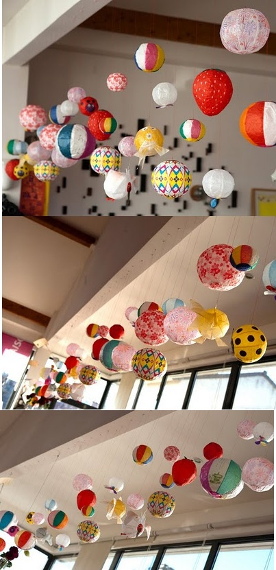 Japanese Paper Balloons. I am beyond in love with these!
