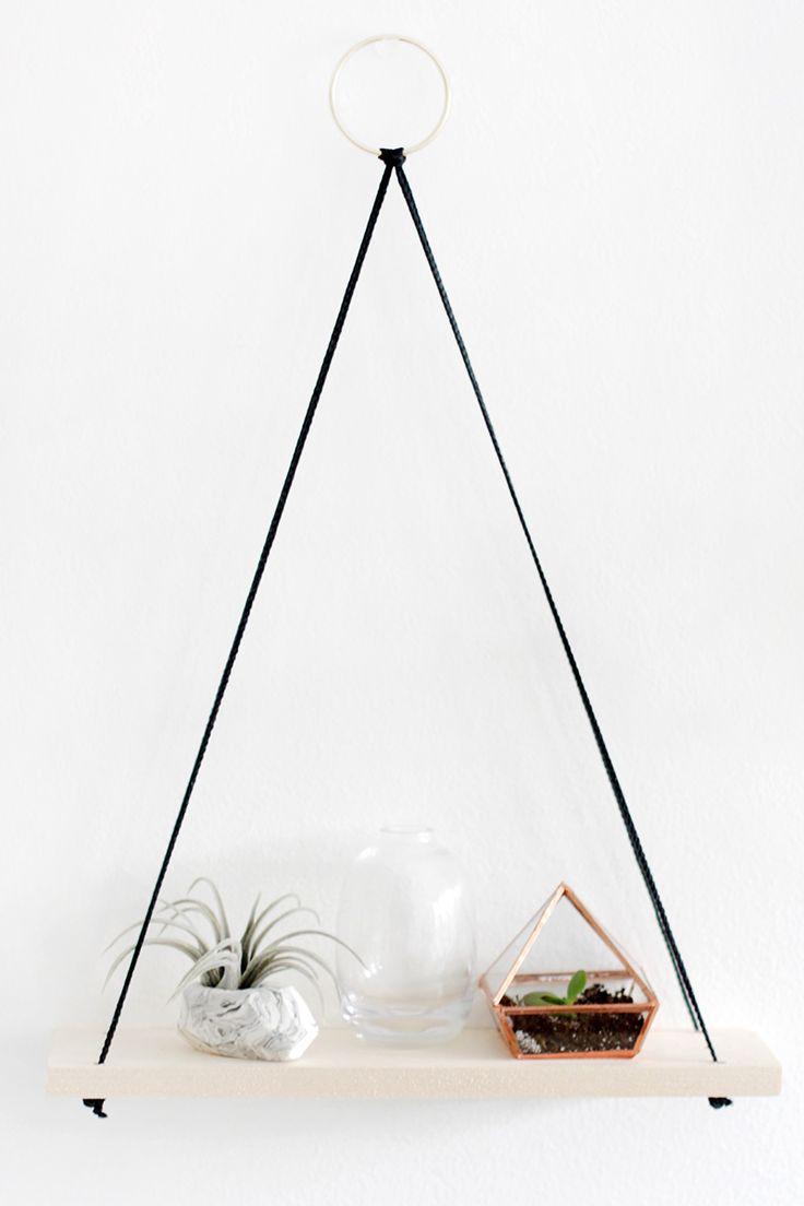 DIY Hanging Shelves