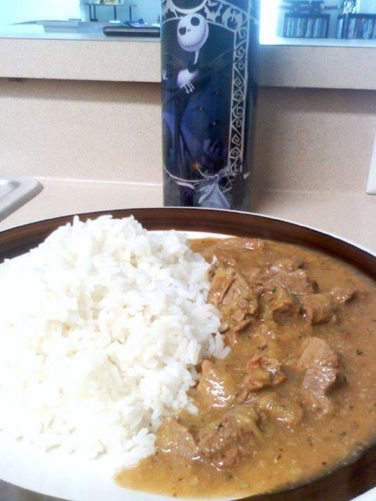 Sango de verde de carne (Ecuadorian dish) latin food