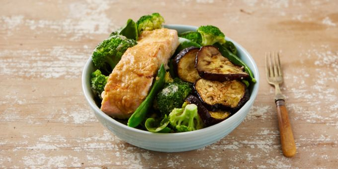 Miso Salmon + Eggplant Bowl - gosh we love salmon and this is just divine!