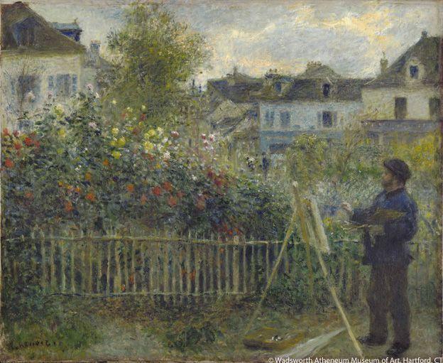 Auguste Renoir, Monet Pintando en su Jardín de Argenteuil, 1873