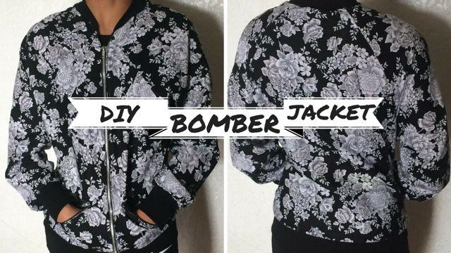 DIY Floral Bomber Jacket sewing tutorial