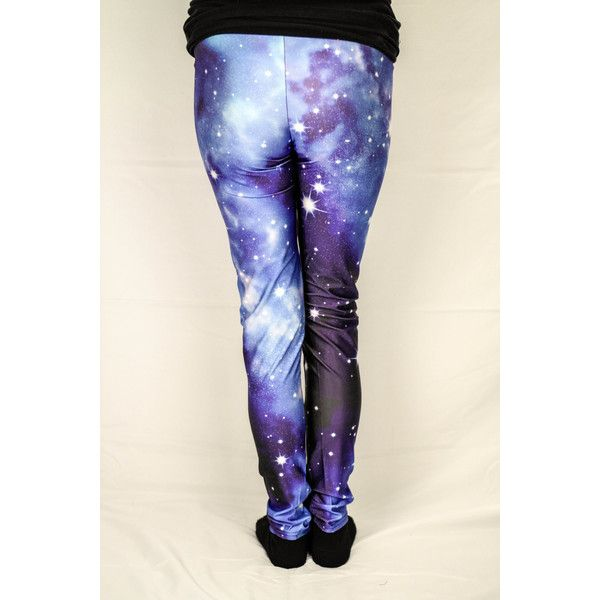 Violet Jovian Atmosphere Galaxy Leggings ($15) ❤ liked on Polyvore featuring pants, leggings, grey, women's clothing, galactic leggings, grey leggings, grey trousers, galaxy print leggings and galaxy pants