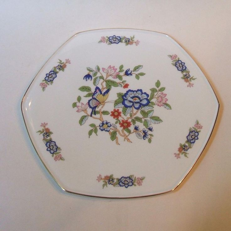 Royal Tara Irish Bone China Harmony Hexagonal Cake Cheese Serving Plate Tray #RoyalTaraIrishFineBoneChina
