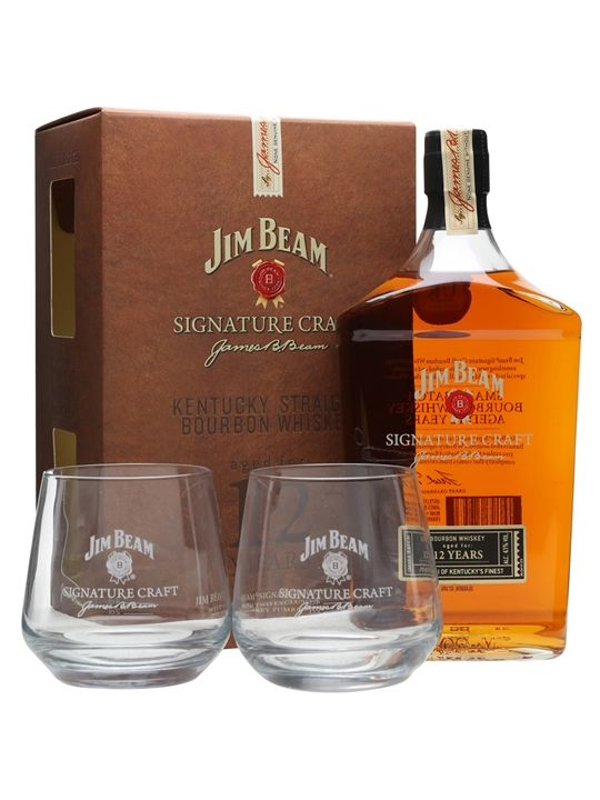 Jim Beam Signature Craft is the permanent expression in the range, which displays a balance between sweetness and oak. It is presented in a gift pack with a pair of tumblers.