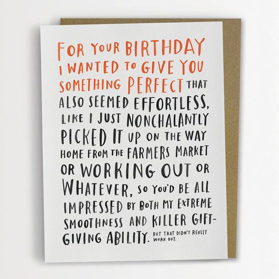 Awkward Birthday Card by Emily McDowell / door emilymcdowelldraws