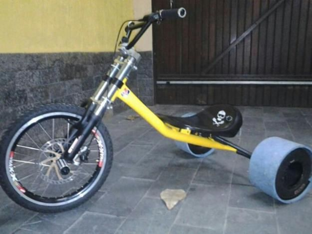 Trike Drift com rodas de Kart
