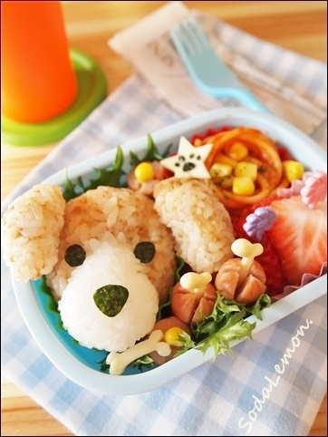 "Not an advocate of ""dog-eating"" but what the hey, this ""beagle bento"" is just <3!"