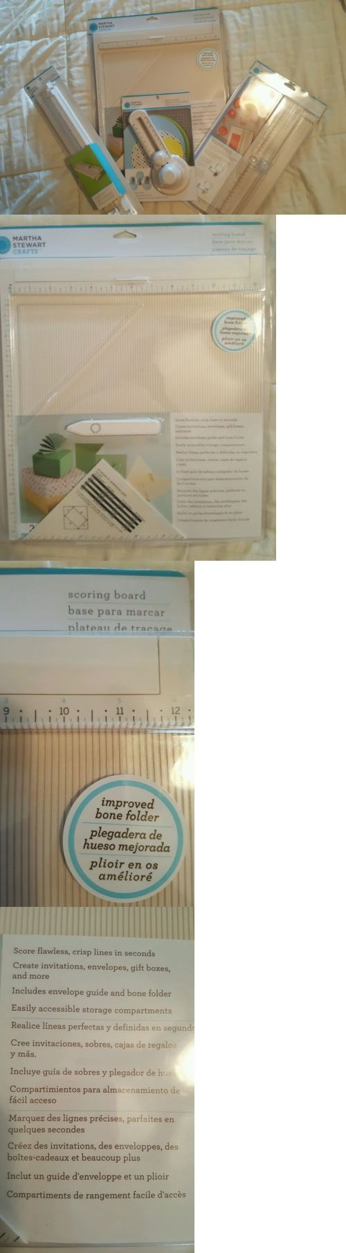 Cutters and Trimmers 183174: Brand New Martha Stewart Paper Trimmer Circle Cutter Scoring Board Set Of Four! -> BUY IT NOW ONLY: $59.99 on eBay!