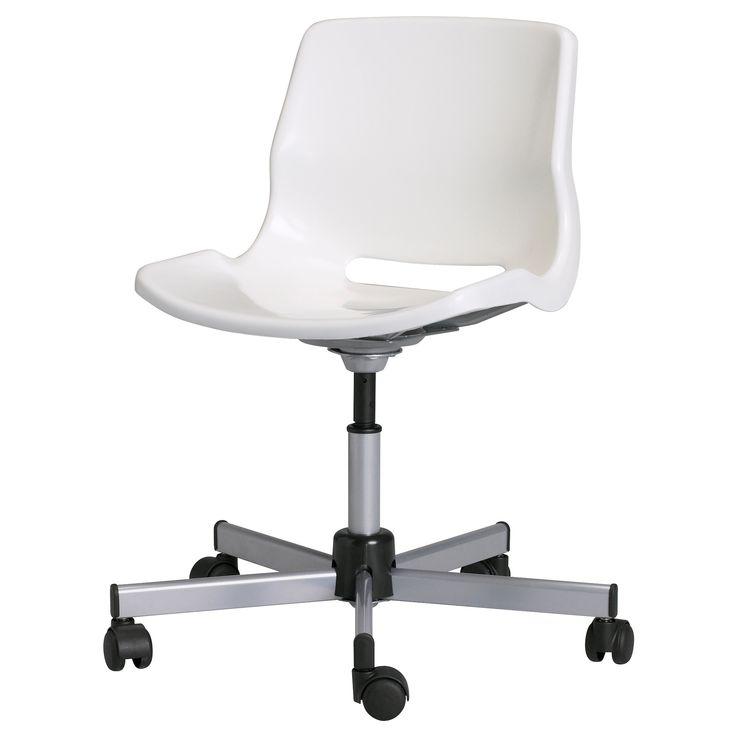 SNILLE Sedia da ufficio - bianco - IKEA