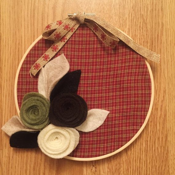 Hey, I found this really awesome Etsy listing at https://www.etsy.com/ca/listing/493135251/handmade-christmas-decoration-hoop-plaid