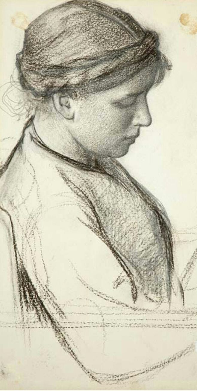 ■ HAWKINS, Louis Welden (French 1849-1910) - Untitled (Head of Young Woman). Charcoal drawing on paper, verso, Mending, watercolour on paper, 23.5 x 41.6 cm - Owens Art Gallery, Mount Allison University (Sackville Canada) http://www.mta.ca/owens/index.php ■ Луис Велден ХОУКИНС - Без названия (Голова молодой женщины). Рисунок углём ■ More information/Подробнее здесь: https://kovalcurator.files.wordpress.com/2015/01/hawkins-spreads.pdf